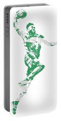 Jaylen Brown Boston Celtics Pixel Art 10 Portable Battery Charger