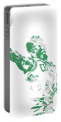 Jaylen Brown Boston Celtics Pixel Art 11 Portable Battery Charger