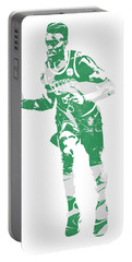 Jaylen Brown Boston Celtics Pixel Art 30 Portable Battery Charger