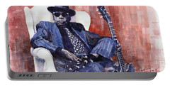 Jazz Bluesman John Lee Hooker 02 Portable Battery Charger