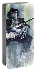 Jazz Bluesman John Lee Hooker 04 Portable Battery Charger