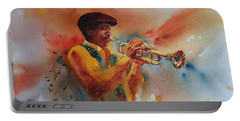 Jazz Man Portable Battery Charger by Ruth Kamenev
