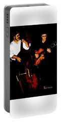 Jazz Musicians Portable Battery Charger by Sadie Reneau
