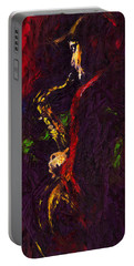 Jazz Red Saxophonist Portable Battery Charger
