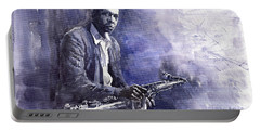 Jazz Saxophonist John Coltrane 03 Portable Battery Charger