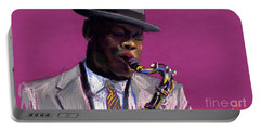 Jazz Saxophonist Portable Battery Charger