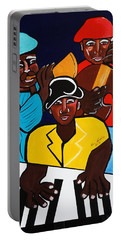 Jazz Sunshine Band Portable Battery Charger by Nora Shepley