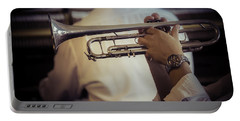 Jazz Trumpet New Orleans Portable Battery Charger by Garry Gay