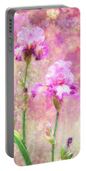 Jazzy Irises Portable Battery Charger