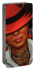 Portable Battery Charger featuring the painting Jazzy by Alga Washington
