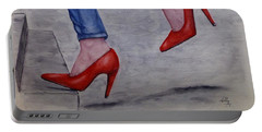 Jeans And Red Heels Portable Battery Charger
