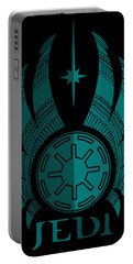 Jedi Symbol - Star Wars Art, Blue Portable Battery Charger