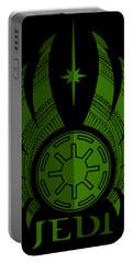 Jedi Symbol - Star Wars Art, Green Portable Battery Charger