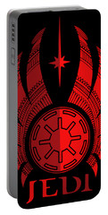 Jedi Symbol - Star Wars Art, Red Portable Battery Charger