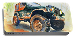 Jeep Wrangler Watercolor Portable Battery Charger