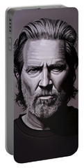 Jeff Bridges Painting Portable Battery Charger