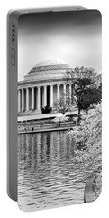 Jefferson Memorial Cherry Blosum Time Portable Battery Charger
