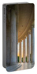 Jefferson Memorial Dawn Portable Battery Charger by Inge Johnsson