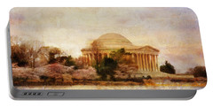 Jefferson Memorial Just Past Dawn Portable Battery Charger