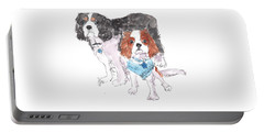 Jeffs Dogs Watercolor Kmcelwaine  Portable Battery Charger