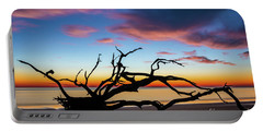 Jekyll Island Sunrise On Driftwood Beach Portable Battery Charger