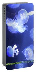 Jelly Fish At Parisian Aquarium Portable Battery Charger
