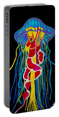 Portable Battery Charger featuring the painting Jelly Fish  by Jennah Lenae