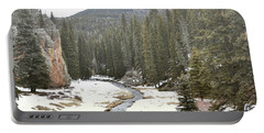 Portable Battery Charger featuring the photograph Jemez Mountains Forest Stream by Andrea Hazel Ihlefeld