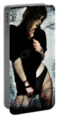 Portable Battery Charger featuring the digital art Jenn 1 by Mark Baranowski