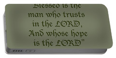 Jeremiah 17 7 Blessed Is The Man Portable Battery Charger