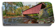 Jericho Covered Bridge In Maryland During Autumn Portable Battery Charger