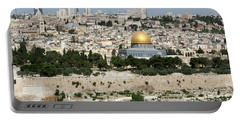 Jerusalem Skyline Portable Battery Charger