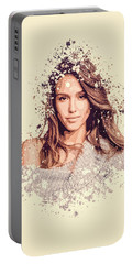 Jessica Alba Splatter Painting Portable Battery Charger