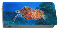 Jessie's Sea Turtle Portable Battery Charger by LaVonne Hand