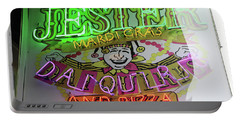Jester Mardi Gras Sign Portable Battery Charger by Steven Spak
