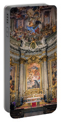 Portable Battery Charger featuring the photograph Jesuit Church Rome Italy by Joan Carroll