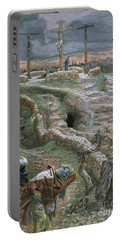 Jesus Alone On The Cross Portable Battery Charger