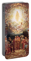 Jesus Ascending Into Heaven Portable Battery Charger