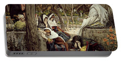 Jesus At Bethany Portable Battery Charger