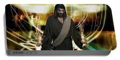 Jesus Christ- God Shines In Glorious Radiance Portable Battery Charger