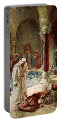 Jesus Cures A Sick Man Portable Battery Charger