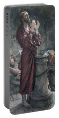 Jesus In Prison Portable Battery Charger by Tissot