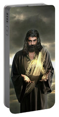 Jesus In The Clouds With Radiant Power Portable Battery Charger