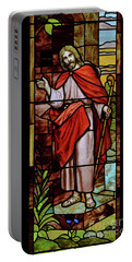 Portable Battery Charger featuring the photograph Jesus Knocking by Debby Pueschel
