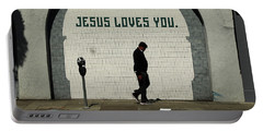 Jesus Loves You Portable Battery Charger