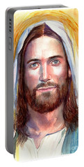 Jesus Of Nazareth Painting Portable Battery Charger