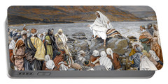 Jesus Preaching Portable Battery Charger