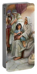 Jesus Teaching The People Portable Battery Charger