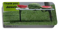 Jesus Watermelon Portable Battery Charger