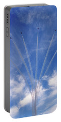 Portable Battery Charger featuring the photograph Jet Planes Formation In Sky by Pradeep Raja Prints